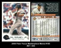 2000 Fleer Focus Masterpiece Mania #185