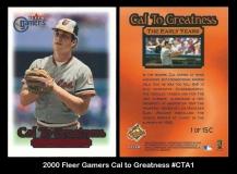 2000 Fleer Gamers Cal to Greatness #CTA1