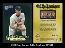 2000 Fleer Gamers Cal to Greatness #CTA10