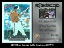 2000 Fleer Gamers Cal to Greatness #CTA12