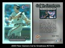 2000 Fleer Gamers Cal to Greatness #CTA13