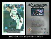 2000 Fleer Gamers Cal to Greatness #CTA14