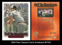 2000 Fleer Gamers Cal to Greatness #CTA2