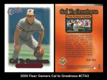 2000 Fleer Gamers Cal to Greatness #CTA3