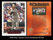 2000 Fleer Gamers Cal to Greatness #CTA4