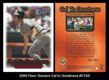 2000 Fleer Gamers Cal to Greatness #CTA5