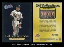 2000 Fleer Gamers Cal to Greatness #CTA7