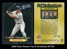 2000 Fleer Gamers Cal to Greatness #CTA8