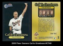 2000 Fleer Gamers Cal to Greatness #CTA9