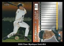 2000 Fleer Mystique Gold #54