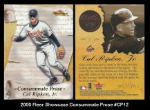 2000 Fleer Showcase Consummate Prose #CP12