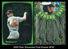 2000 Fleer Showcase Final Answer #FA3