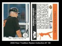 2000 Fleer Tradition Ripken Collection #1 '59