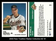 2000 Fleer Tradition Ripken Collection #2 '61
