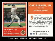 2000 Fleer Tradition Ripken Collection #5 '63