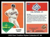2000 Fleer Tradition Ripken Collection #7 '86