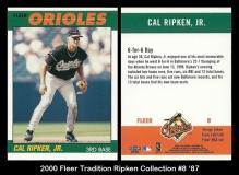 2000 Fleer Tradition Ripken Collection #8 '87