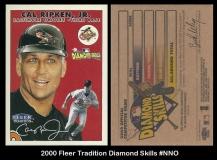 2000 Fleer Tradition Diamond Skills #NNO