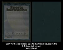 2000 Authentic Images Sports Illustrated Covers #NNO A Tribute to Ironman