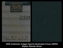 2000 Authentic Images Sports Illustrated Covers #NNO Ripken Stands Alone