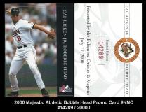 2000 Majestic Athletic Bobble Head Promo Card #NNO
