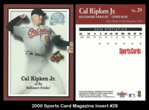 2000 Sports Card Magazine Insert #29