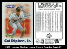 2000 Hasboro Starting Lineup Classic Double Cards #7