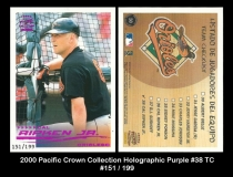 2000 Pacific Crown Collection Holographic Purple #38 TC