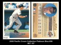 2000 Pacific Crown Collection Platinum Blue #36