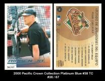 2000 Pacific Crown Collection Platinum Blue #38 TC