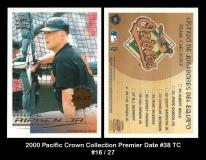 2000 Pacific Crown Collection Premier Date #38 TC