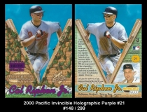 2000 Pacific Invincible Holographic Purple #21