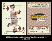 2000 Pacific Invincible Kings of the Diamond 299 #5