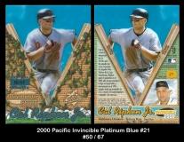 2000 Pacific Invincible Platinum Blue #21