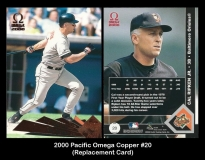 2000 Pacific Omega Copper #20 Replacement Card