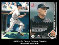 2000 Pacific Omega Platinum Blue #20 Replacement Card