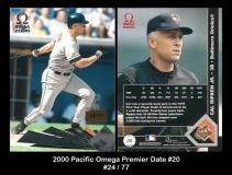 2000 Pacific Omega Premier Date #20