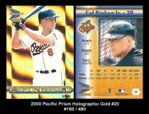 2000 Pacific Prism Holographic Gold #20
