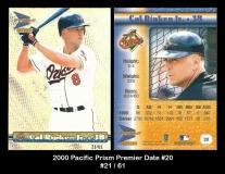 2000 Pacific Prism Premier Date #20