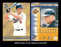 2000 Pacific Prism Rapture Gold #20