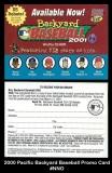 2000 Pacific Backyard Baseball Promo Card #NNO