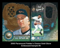 2000 Paramount Fielders Choice Gold Glove Embossed Sample #4
