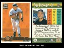 2000 Paramount Gold #33