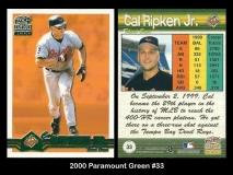 2000 Paramount Green #33