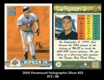 2000 Paramount Holographic Silver #33