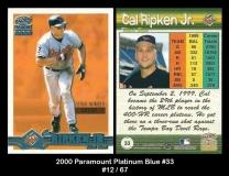 2000 Paramount Platinum Blue #33