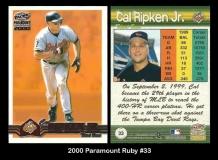 2000 Paramount Ruby #33