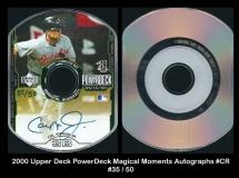 2000 Upper Deck PowerDeck Magical Moment Autographs #CR