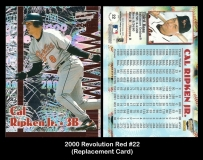 2000 Revolution Red #22 Replacement Card