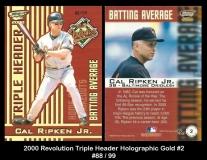 2000 Revolution Triple Header Holographic Gold #2